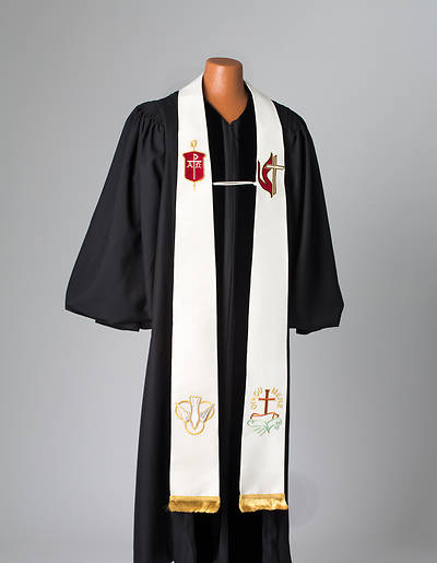 Picture of Bishop's White Lurex Stole