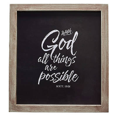 Picture of Wall Plaque All Things Are Possible