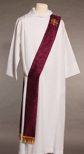 MDS Purple Greek Cross Deacon Stole