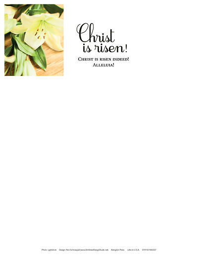 Christ Is Risen! Easter Lilies Letterhead (Pkg of 50)