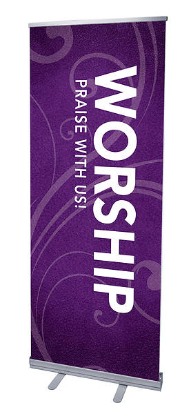 Flourish Worship RollUp Banner with Stand