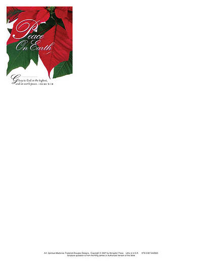 Christmas Poinsettia/Peace on Earth Letterhead 2011 (Package of 50)