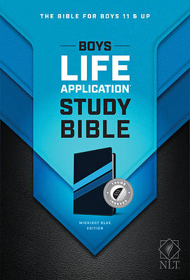 Picture of NLT Boys Life Application Study Bible, Tutone (Leatherlike, Midnight Blue, Indexed)
