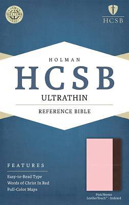 HCSB Ultrathin Reference Bible, Pink/Brown Leathertouch Indexed