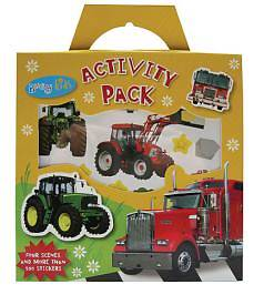 Sticker Activity Pack Tractors and Trucks [With 4 Scenes]