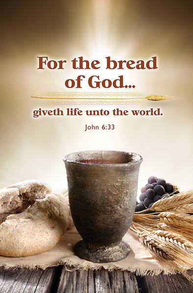 Bread of God Communion Regular Size Bulletin
