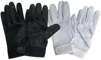 Picture of UltimaGlove Leather Handbell Gloves - White, Medium
