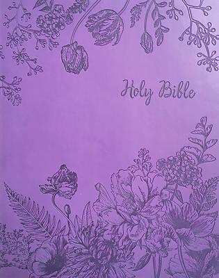 Picture of KJV Sword Study Bible Personal Size Large Print Designer Purple Ultrasoft Indexed