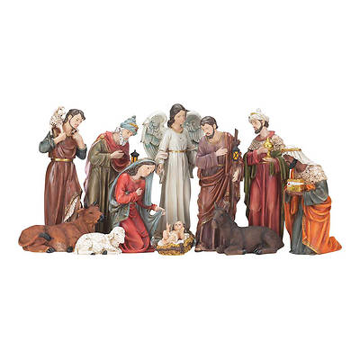 Resin Nativity Set 11 Piece