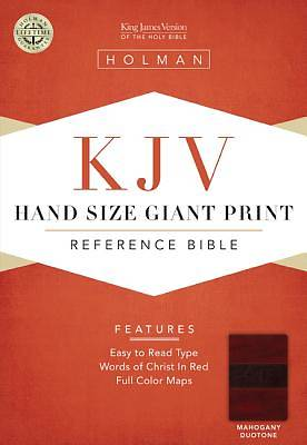 KJV Large Print Personal Size Reference Bible, Mahogany LeatherTouch