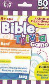 Bible Trivia 50 CT Flash Cards