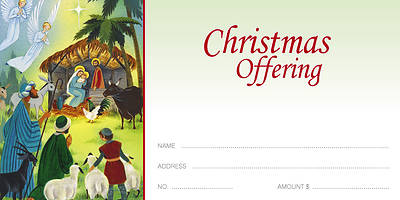 American Folk Art Nativity Offering Envelope (Package of 100)