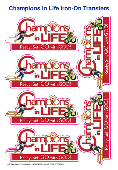 Picture of Vacation Bible School (VBS) 2020 Champions in Life Iron-On Transfers (Pkg of 12)