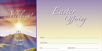"Sunrise ""Alleluia Our Redeemer Lives"" Offering Envelope (Package of 100)"