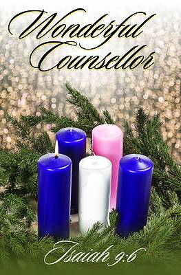 Picture of Wonderful Counsellor Bulletin (Pkg 100) Advent