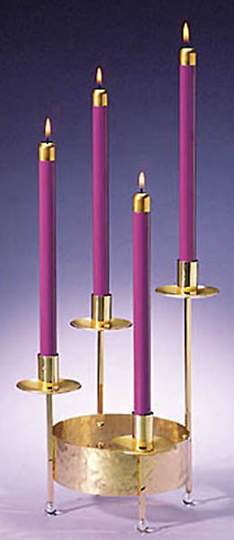 Advent Wreath Solid Brass 4-Level Small