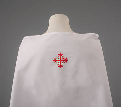 Picture of Cambric Linen Amice with Red Cross and Vine