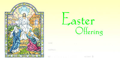Easter Sunday Alleluia He is Risen Offering Envelope (Package of 100)