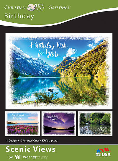 Picture of Scenic Views Birthday Boxed Cards (Box of 12)
