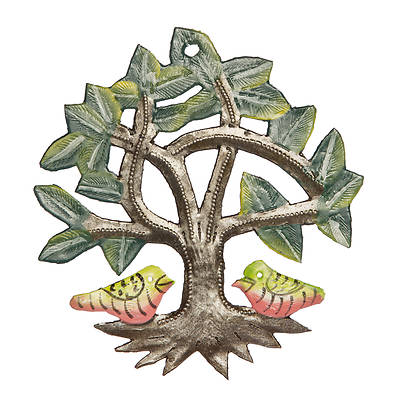 """Picture of Tree With Birds Ornament 4"""""""