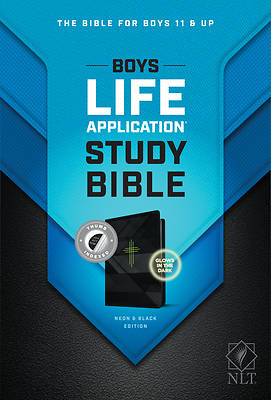 Picture of NLT Boys Life Application Study Bible, Tutone (Leatherlike, Neon/Black, Indexed)