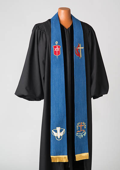 Picture of Bishop's Blue Lurex Stole