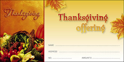 We Gather Together Thanksgiving Offering Envelope (Package of 100)
