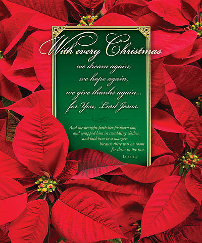 With Every Christmas Poinsettia Legal Size Bulletin