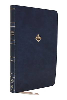 Picture of Nkjv, Thinline Reference Bible, Large Print, Leathersoft, Blue, Red Letter Edition, Comfort Print