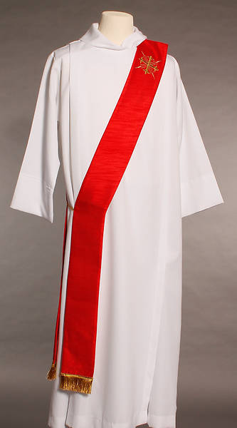 MDS Red Greek Cross Deacon Stole