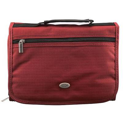 Picture of Bible Case Three Fold Maroon Medium