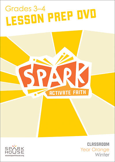 Spark Classroom Grades 3-4 Preparation DVD Winter Year Orange