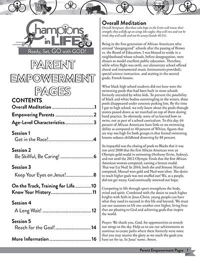 Picture of Vacation Bible School (VBS) 2020 Champions in Life Parent Empowerment Pages