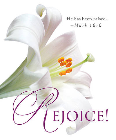 Rejoice! Easter Lilies Bulletin 2013, Large (Package of 50)