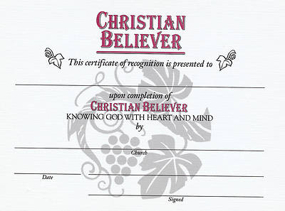 Christian Believer Certificates (Pkg of 6)