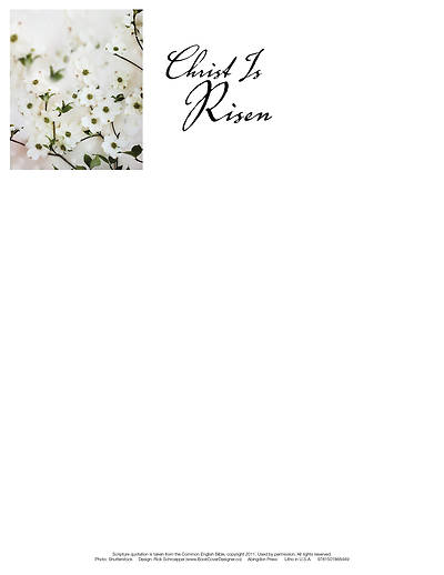 Christ Is Risen Dogwood Easter Letterhead (Pkg of 50)