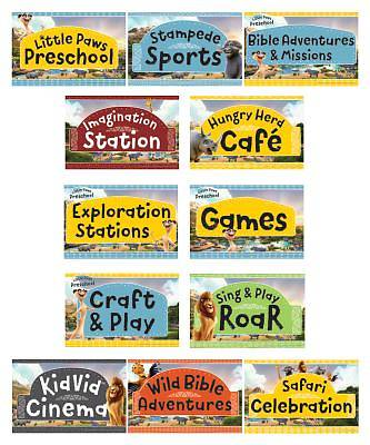 Picture of Vacation Bible School (VBS19) Roar Station Sign Posters (set of 12)