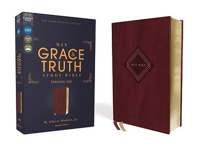 Picture of Niv, the Grace and Truth Study Bible, Personal Size, Leathersoft, Burgundy, Red Letter, Comfort Print