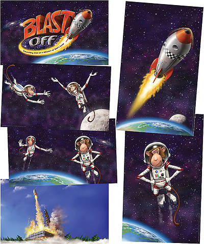 Group VBS 2014 Weekend Blast Off Blast Off Giant Decorating Posters (Set of 6)