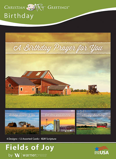 Picture of Fields of Joy Birthday Boxed Cards (Box of 12)