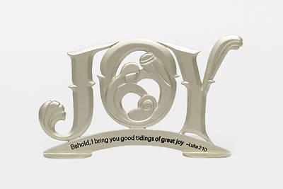 JOY Holy Family Metal Figurine Plaque