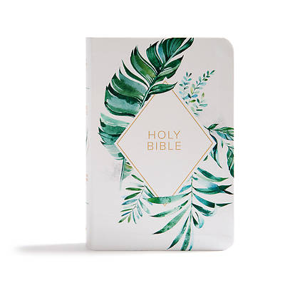 Picture of KJV On-The-Go Bible, White Floral Textured Leathertouch