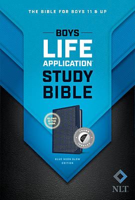Picture of NLT Boys Life Application Study Bible, Tutone (Leatherlike, Blue/Neon/Glow, Indexed)