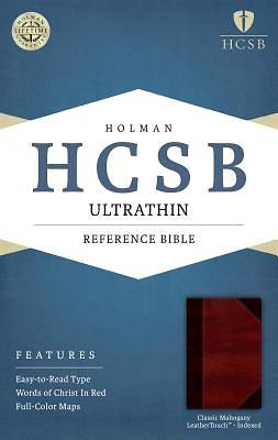 HCSB Ultrathin Reference Bible, Classic Mahogany Leathertouch Indexed