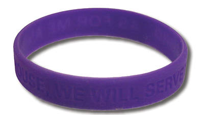 UMI VBS 2013 Jesus Family Reunion: The Remix Silicon Wristband Purple (Pkg 10)