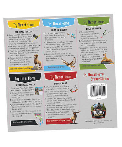 Picture of Vacation Bible School (VBS) 2020 Rocky Railway Try This at Home Sticker Sheets (pkg. of 10 sheets)