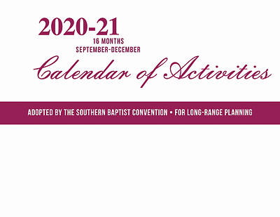 Picture of Calendar Of Activities - 2020 - 2021