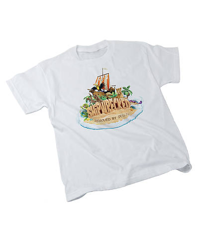 Vacation Bible School (VBS) 2018 Shipwrecked Child Theme T-Shirt - MED