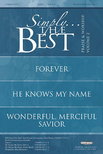 Simply the Best Praise & Worship Volume 2 Booklet