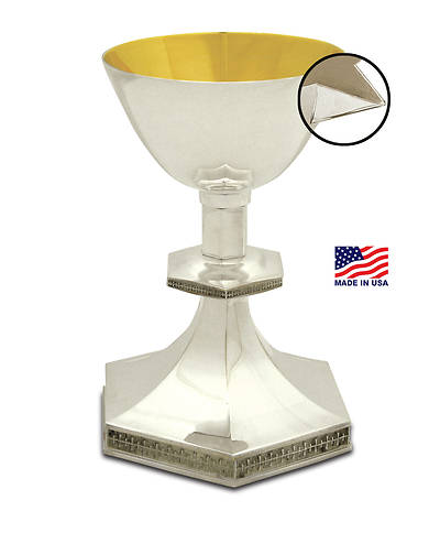 The Creator's Star Silver-plated Chalice with Gold Lining and Applied Pouring Spout